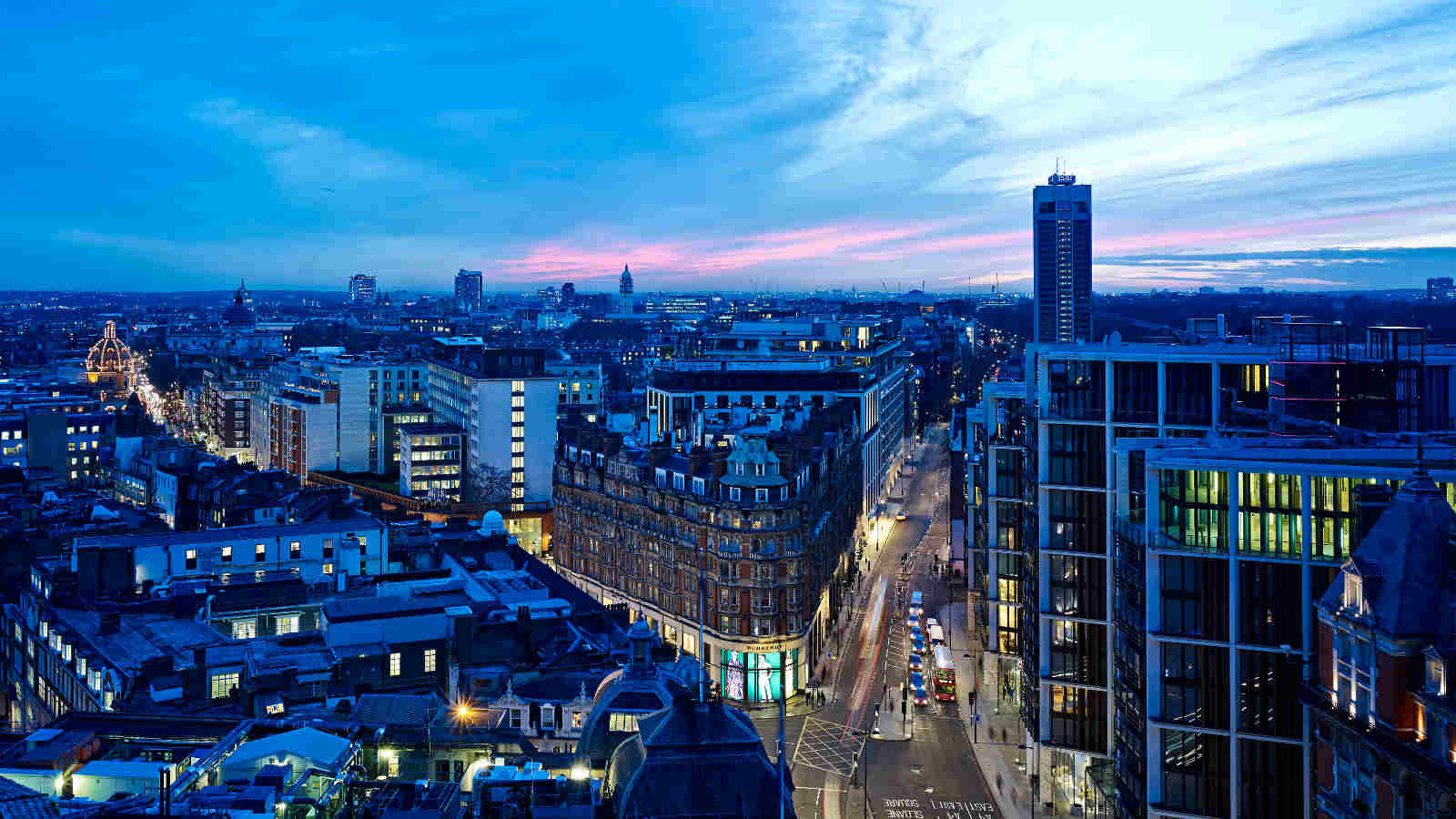 Beautiful London views from the Park Tower Knightsbridge