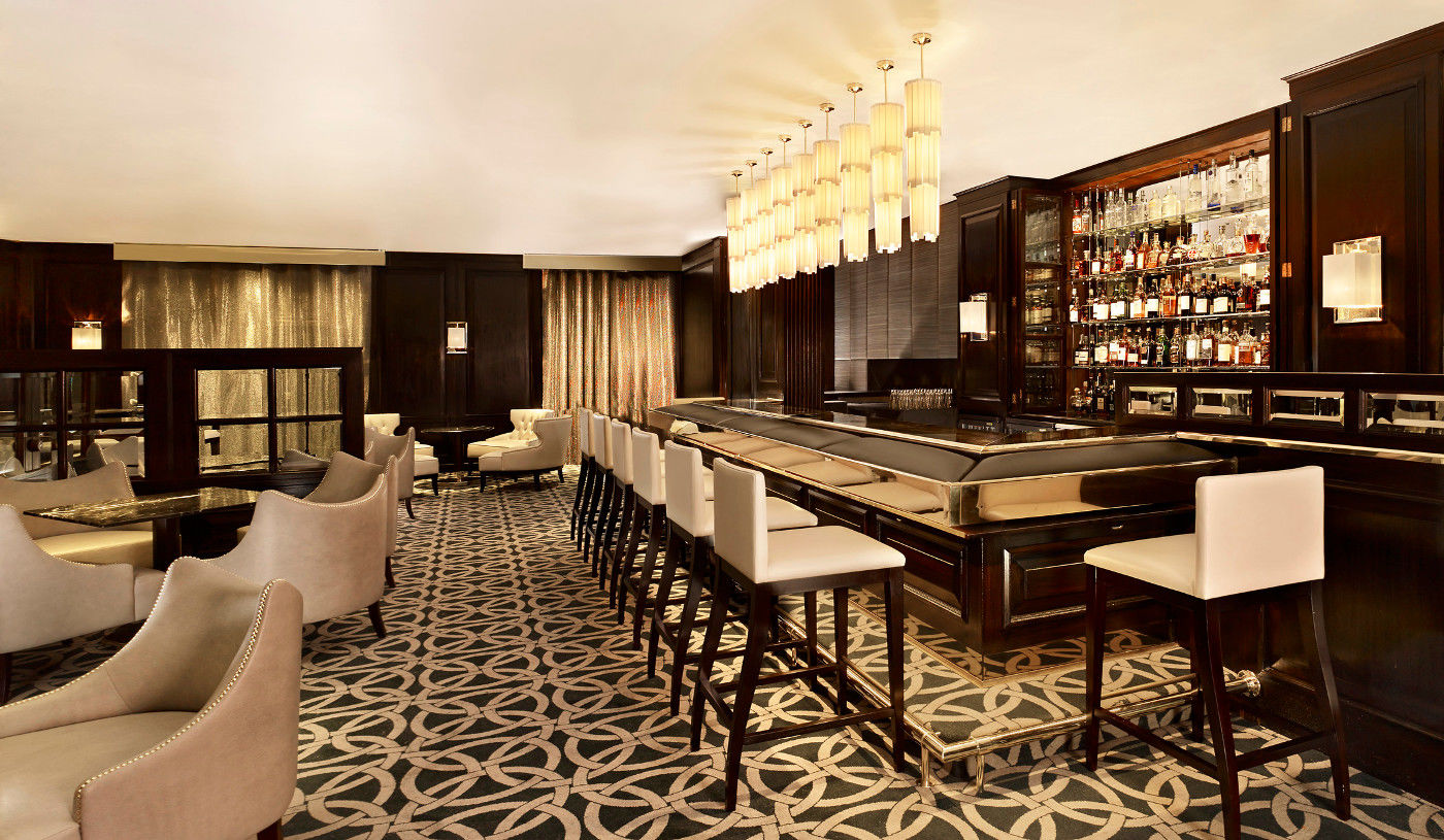 Luxurious whisky bar in London's Knightsbridge