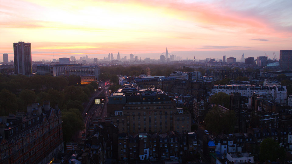 London at dusk: an unforgettable view from The Park Tower, Knightsbridge